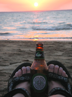 Beer and Sunset